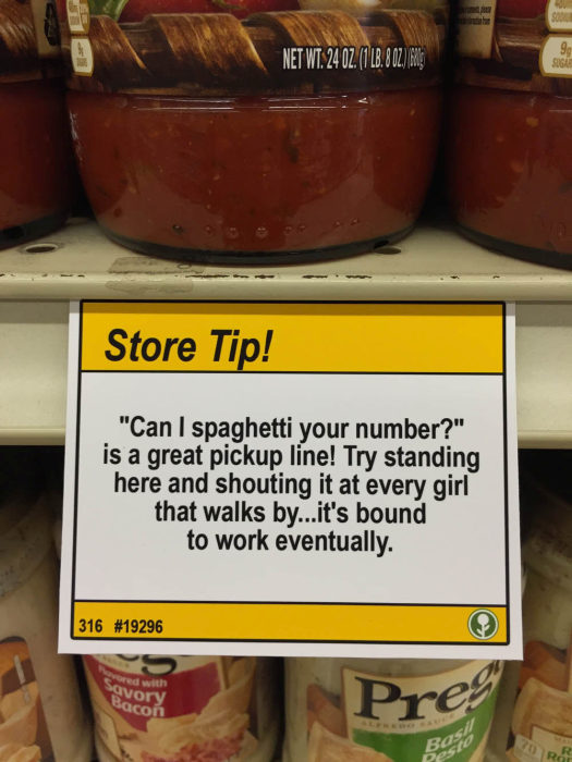 Hilarious Shopping Tips Found At A Local Grocery Store (10 pics)