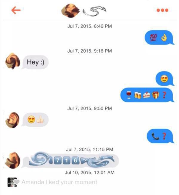 This Guy Doesn't Even Have To Use Sentences To Get Girls On Tinder (9 pics)