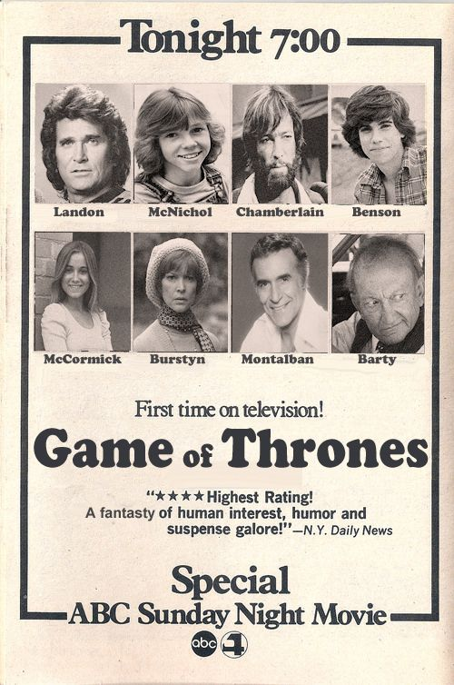 What Game Of Thrones Would Look Like If It Was A 1977 TV Movie (9 pics)