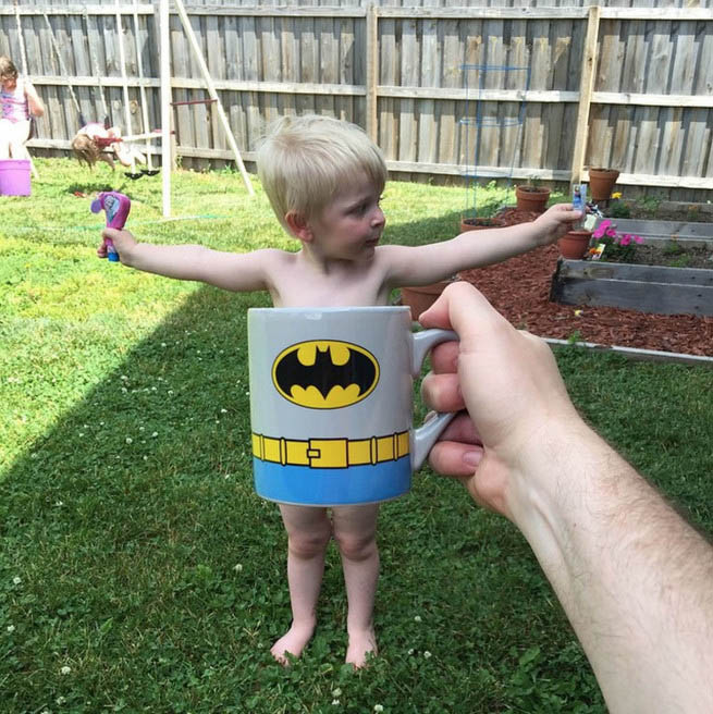 Funny Dad Turns His Family Into Superheroes With #BreakfastMugShots (23 pics)