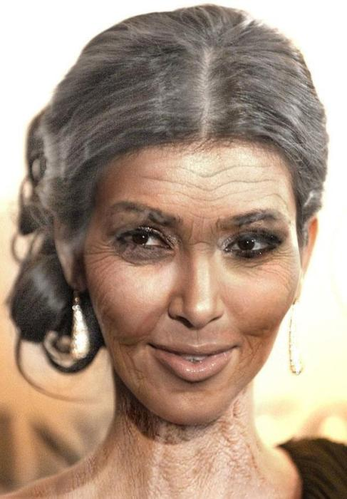 Pictures That Show What Celebrities Will Look Like When They're Old (25 pics)