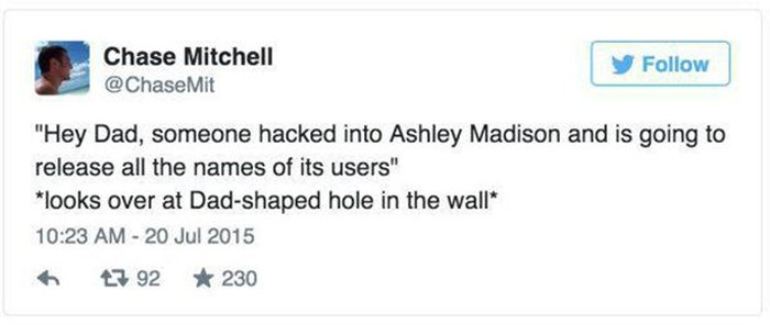 The Internet Had Some Hilarious Things To Say About The Ashley Madison Hack (15 pics)