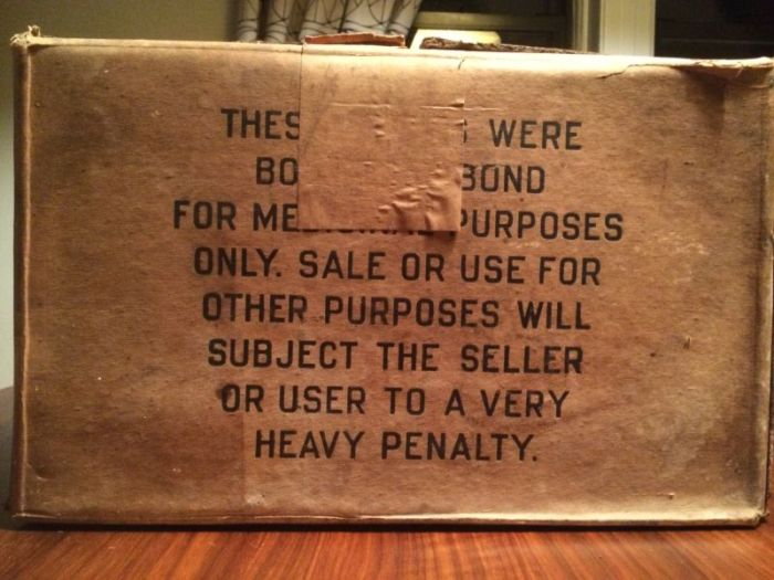 Check Out This Big Box Of Whiskey From The Prohibition Era (10 pics)