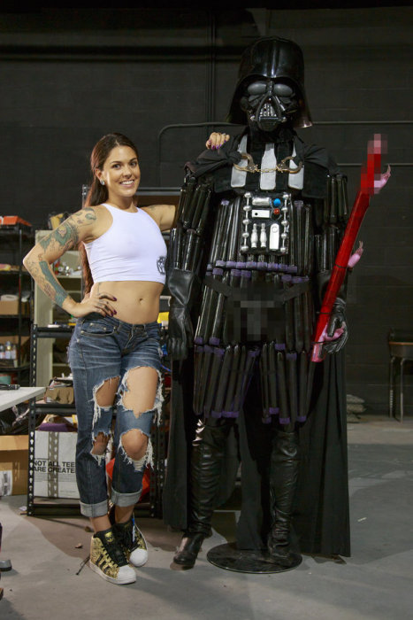 Porn Star Builds Darth Vader Replica Out Of Sex Toys (7 pics)