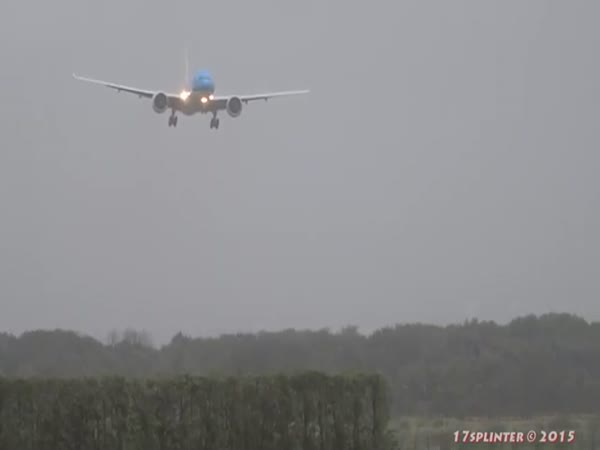 Plane Landing During A Storm