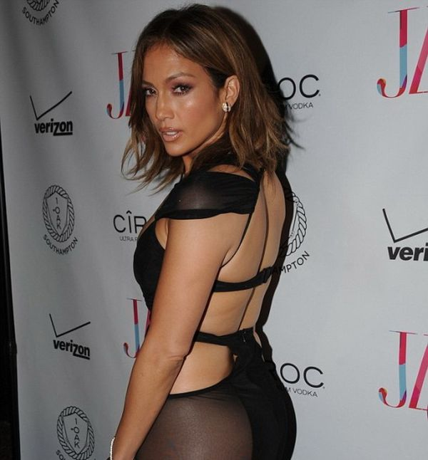 Jennifer Lopez Wears A See Through Dress While Celebrating Her 46th Birthday (7 pics)