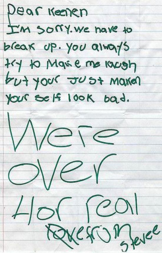 Little Kids Hold Nothing Back In These Brutal Break Up Letters (10 pics)