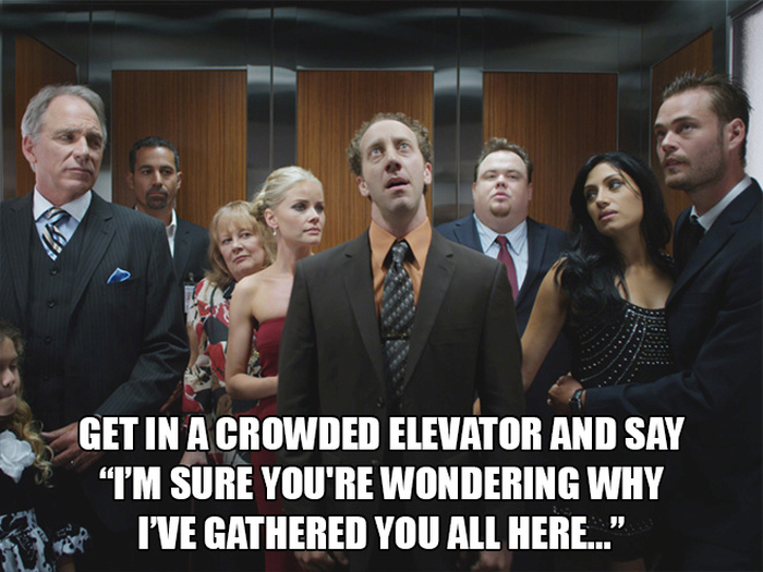 Ridiculous Things Everyone Should Try To Do On In An Elevator (15 pics)