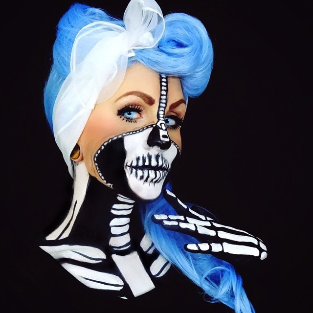 Artist Uses Herself As A Canvas To Create Mesmerizing Body Paintings (13 pics)