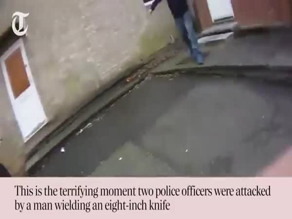 Man With The Knife Attacks Police