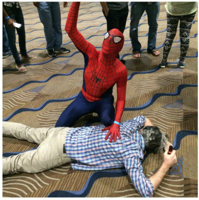 Spider-Man Reacts To Drunk Uncle Ben (9 pics)