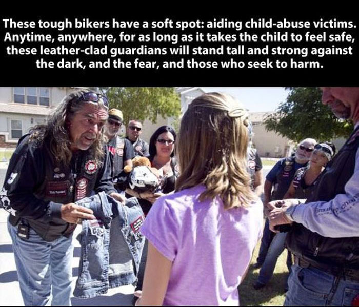 This Biker Gang Will Restore Your Faith In Humanity (7 pics)