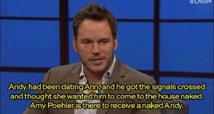 Chris Pratt Talks About Getting Naked On The Set Of Parks And Recreation (7 pics)