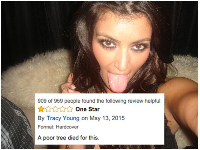 Kim Kardashian's Book Is Getting Crushed By Reviews On Amazon (6 pics)