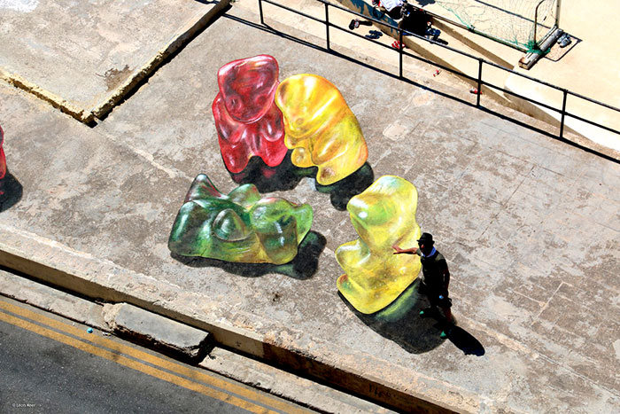 These Giant 3D Gummy Bears Aren't Quite What They Appear To Be (5 pics)