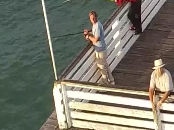 Fisherman vs Drone