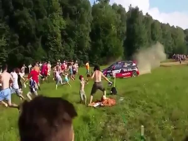Rally Car Incident