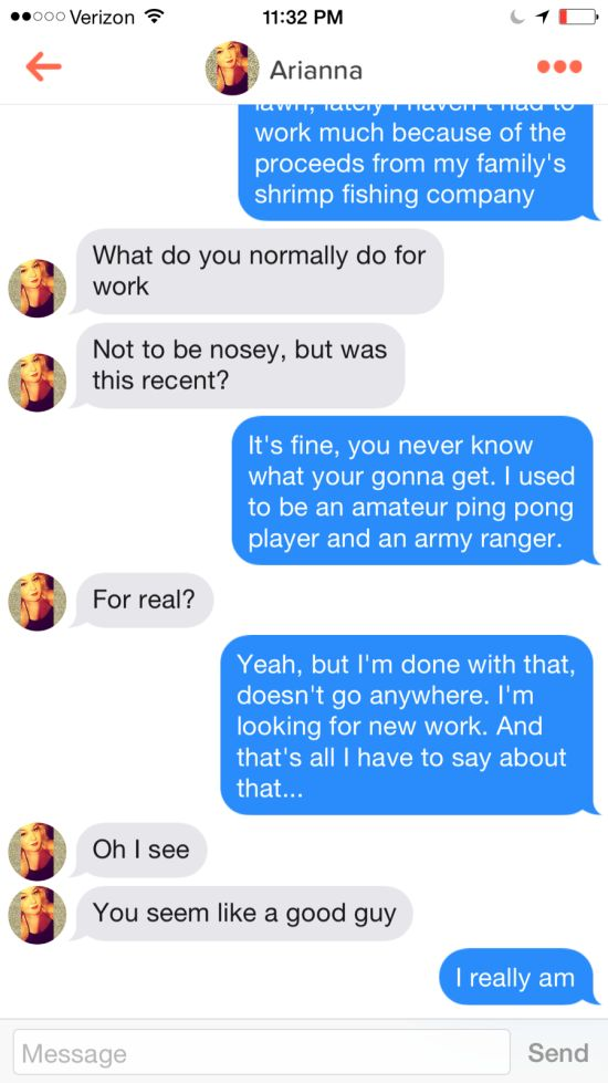 This Guy Pretended To Be Forrest Gump On Tinder And No One Caught On (4 pics)