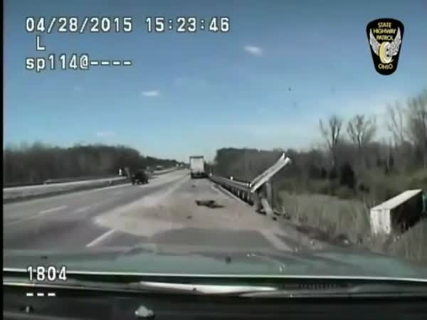 Officer Saves Truck Driver