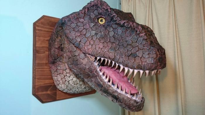 How To Make A Tyrannosaurus Rex Head At Home (10 pics)