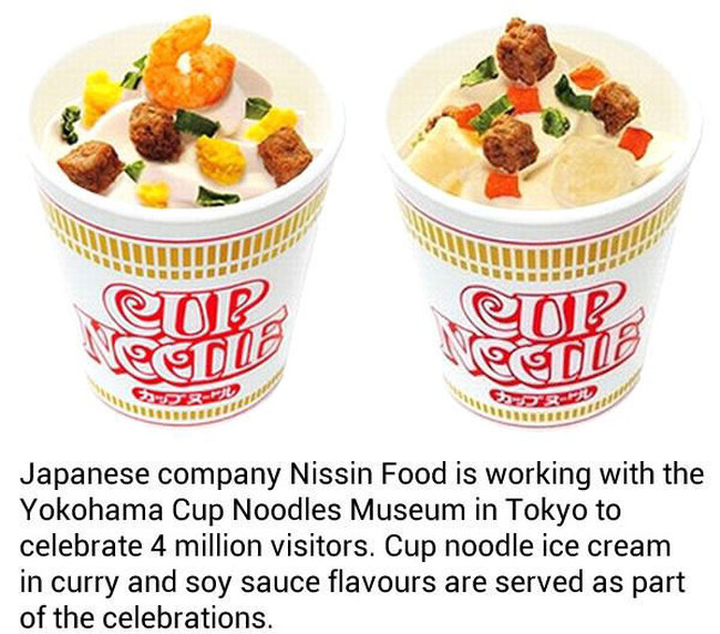Cup Noodle Ice Cream With Shrimp And Egg Is Now Being Served In Japan (4 pics)