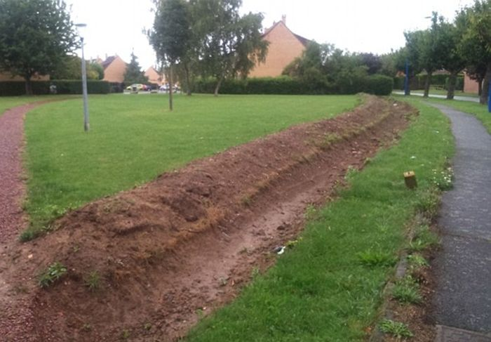 A Town In France Is Digging Trenches To Keep Travelers Off Of Their Fields (4 pics)