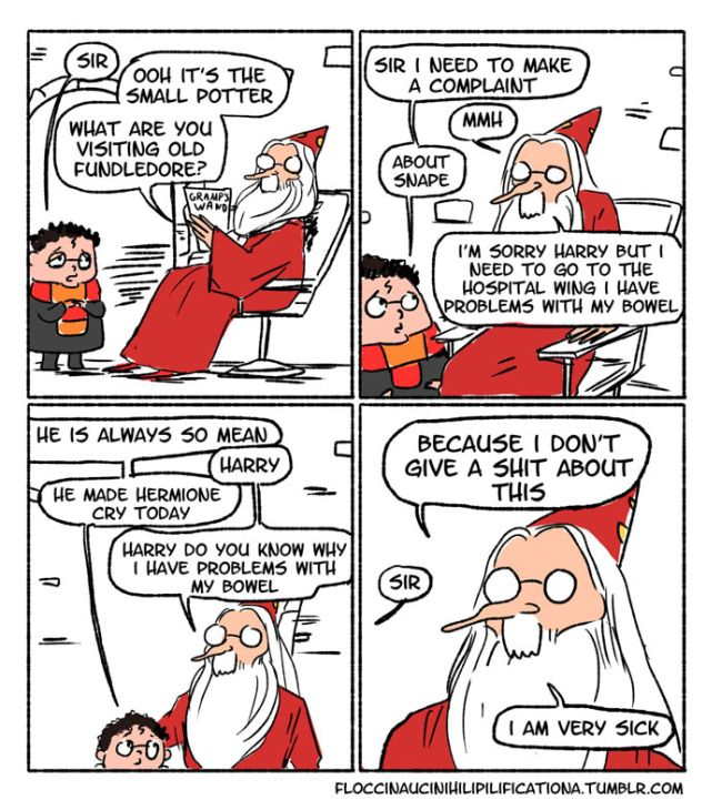 Dumbledore Shows Off His Sassy Side In These Funny Harry Potter Comics (15 pics)