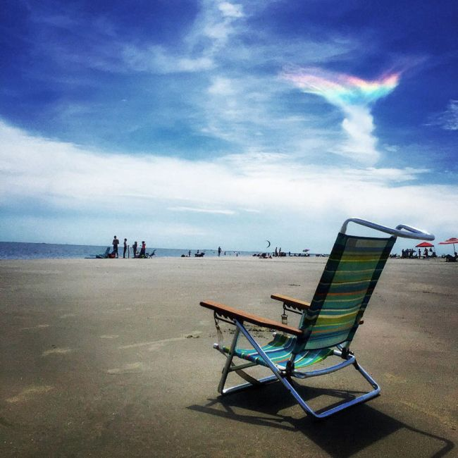 Extremely Rare Fire Rainbow Spotted In The Skies Of South Carolina (6 pics)