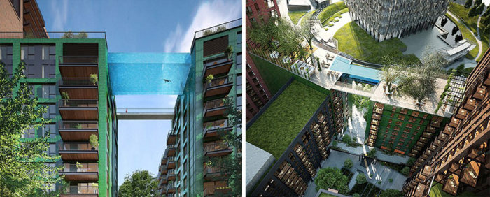 London Is Getting A Glass Bottom 'Sky Pool' That Will Let You Swim At 115 Feet (3 pics)