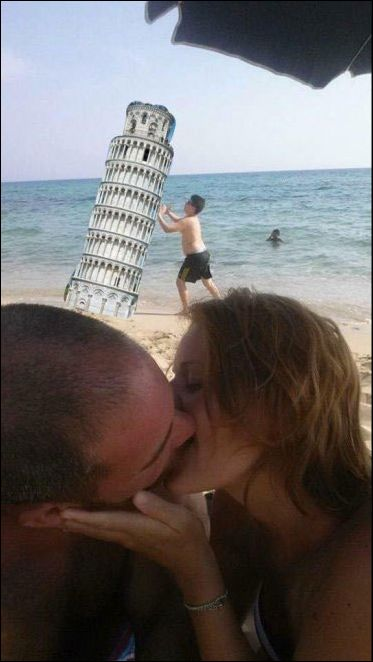 Couple Kissing On The Beach Asks The Internet For Photoshop Help (18 pics)