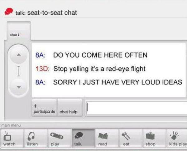 Virgin Airlines Has Their Own In Flight Messaging System And It's Hilarious (11 pics)