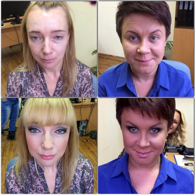 Girls With And Without Makeup (24 pics)