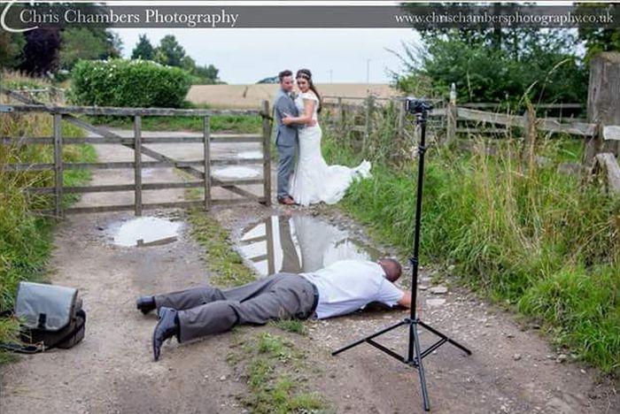 Backstage of A Wedding Photo (2 pics)