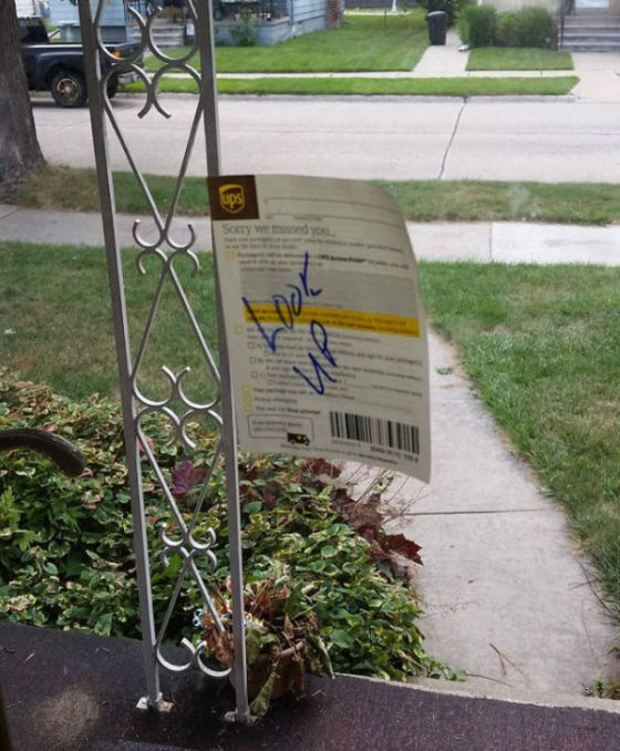 UPS Delivery Driver Went Out Of His Way For This Package (2 pics)