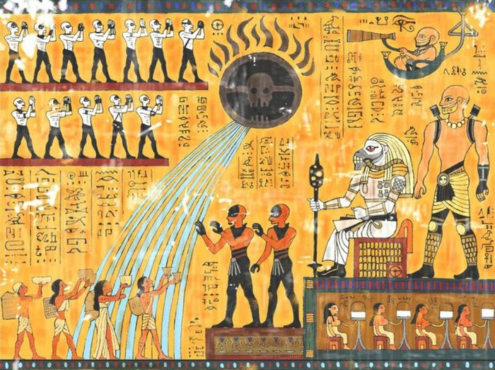 The Story Of Mad Max Told In The Ancient Egyptian Style (3 pics)