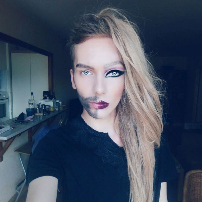 This Man Used The Power Of Makeup To Transform Himself Into A Woman (5 pics)