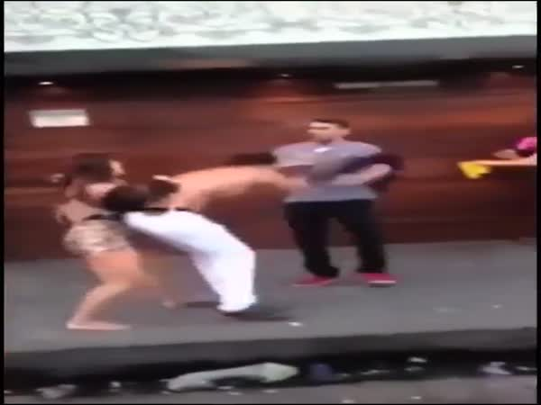 Girl Stops Fight
