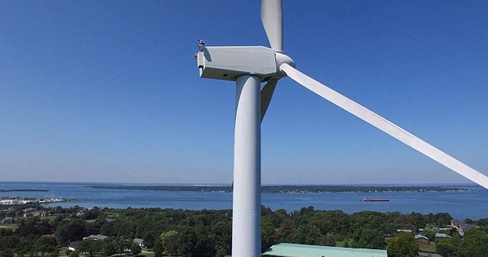 Drone Spots Man Sunbathing On Top Of A 200 Ft Tall Wind Turbine (6 pics)