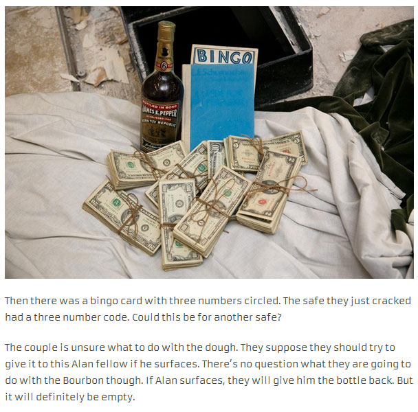 Couple Finds A Lot Of Interesting In A Hidden Safe (15 pics)