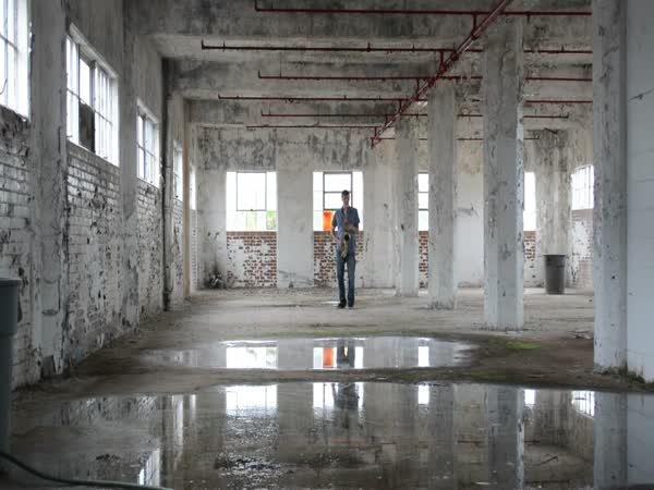 Saxophone Inside An Empty Building