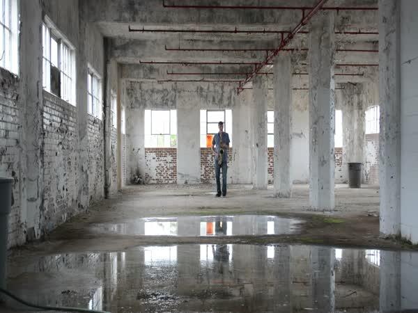 Saxophone Inside An Empty Building