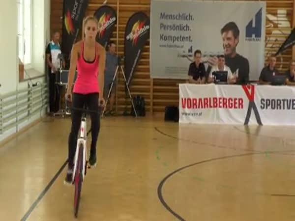 Girl Shows Amazing Skills On The Bike