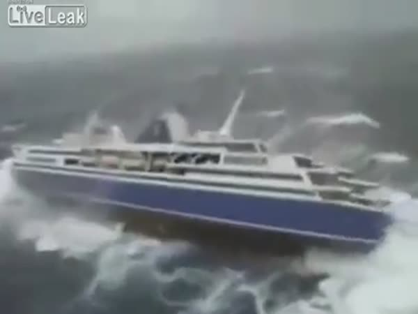 Ship In Storm