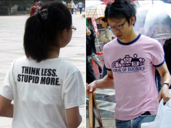 English T-Shirts In Asia (8 pics)