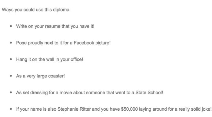 Woman Auctions Off Her Diploma and College Experience  (6 pics)