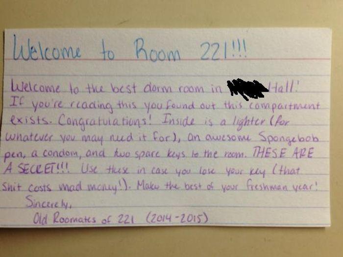 Freshman Finds A Secret Starter Kit in His Dorm Room (3 pics)