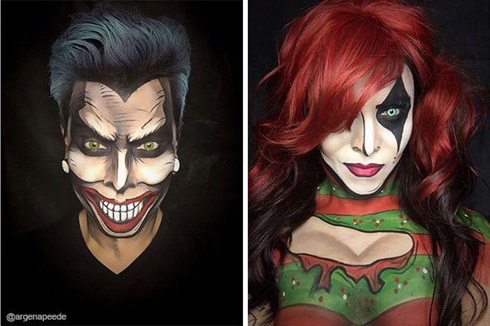 Makeup Artist Turns Himself Into Superheroes (15 pics)