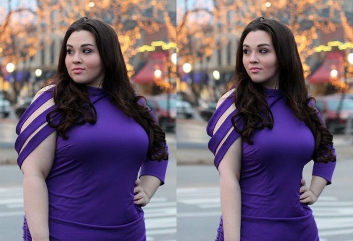 Plus Size Models Made Thin With Photoshop (20 pics)