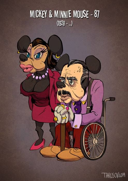 If Cartoon Characters Got Old (10 pics)