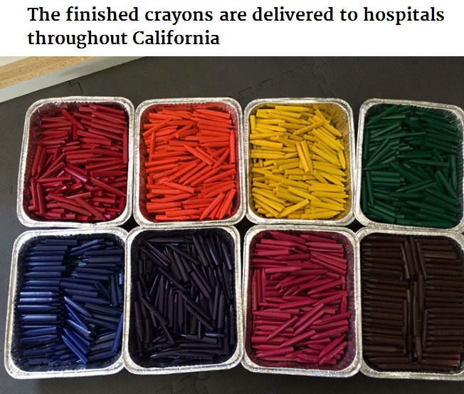 Bryan Ware Knows How To Reuse Leftover Crayons From Restaurants And Schools (10 pics)